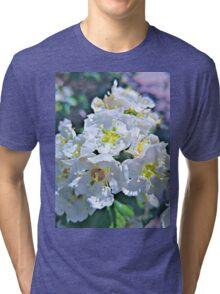 Beautiful White Flowers Tri-blend T-Shirt