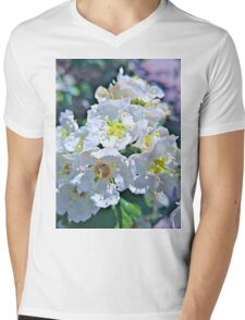Beautiful White Flowers Mens V-Neck T-Shirt