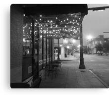 outdoor cafe  Canvas Print