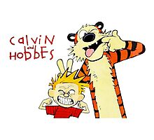 Calvin and Hobbes funny Photographic Print