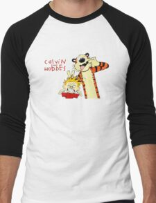 Calvin and Hobbes funny Men's Baseball ¾ T-Shirt