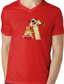 Calvin and Hobbes funny Mens V-Neck T-Shirt