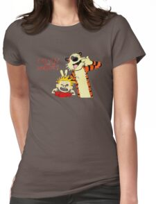 Calvin and Hobbes funny Womens Fitted T-Shirt
