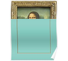 Mona Lisa blue  Poster