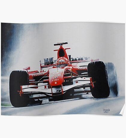 Michael Schumacher, Win 91 Poster