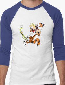 calvin and hobbes shocked Men's Baseball ¾ T-Shirt