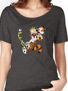 calvin and hobbes shocked Women's Relaxed Fit T-Shirt