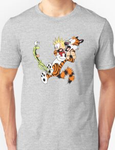 calvin and hobbes shocked Unisex T-Shirt