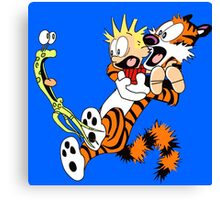 calvin and hobbes shocked Canvas Print