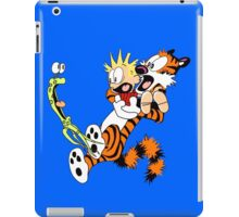calvin and hobbes shocked iPad Case/Skin