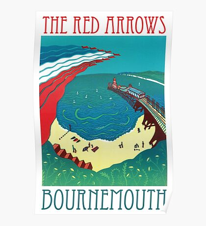 Red Arrows, Bournemouth Poster