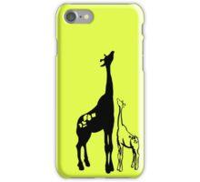 Giraffe and Aspiring Baby iPhone Case/Skin