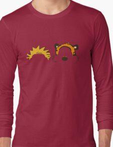 calvin and hobbes not face Long Sleeve T-Shirt
