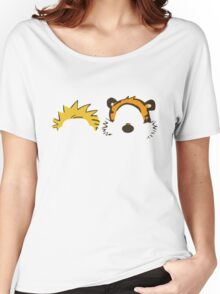 calvin and hobbes not face Women's Relaxed Fit T-Shirt