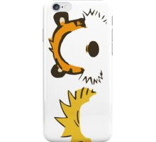 calvin and hobbes not face iPhone Case/Skin