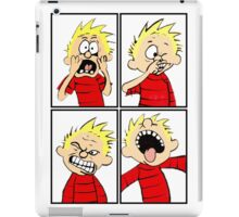 calvin expression face iPad Case/Skin
