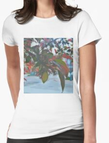 Through The Leaves (Painted) Womens Fitted T-Shirt