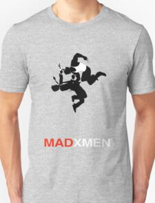 Mad X-Men or Wolverine vs Don Draper T-Shirt