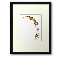 calvin and hobbes hungry Framed Print