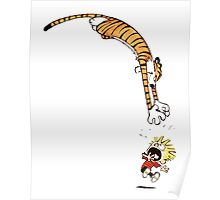 calvin and hobbes hungry Poster