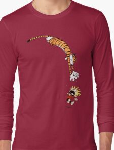calvin and hobbes hungry Long Sleeve T-Shirt