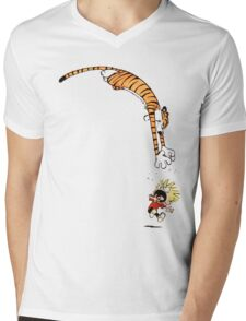 calvin and hobbes hungry Mens V-Neck T-Shirt