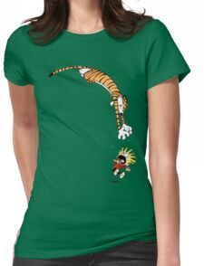 calvin and hobbes hungry Womens Fitted T-Shirt