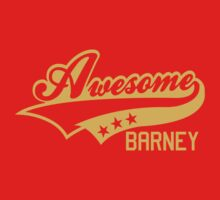 AWESOME BARNEY (yellow type) big version One Piece - Short Sleeve