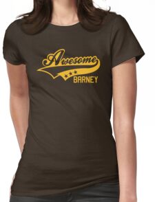 AWESOME BARNEY (yellow type) big version Womens Fitted T-Shirt