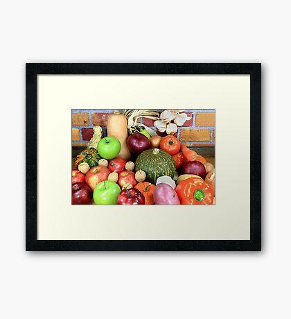 Vegetables and Fruits. Framed Print