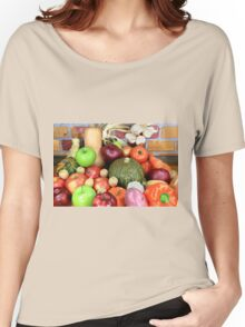 Vegetables and Fruits. Women's Relaxed Fit T-Shirt