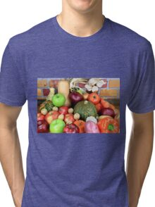 Vegetables and Fruits. Tri-blend T-Shirt
