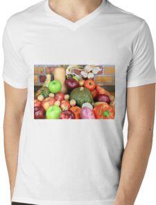 Vegetables and Fruits. Mens V-Neck T-Shirt