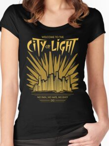 Welcome to the City of Light Women's Fitted Scoop T-Shirt