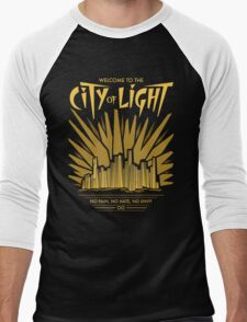 Welcome to the City of Light Men's Baseball ¾ T-Shirt