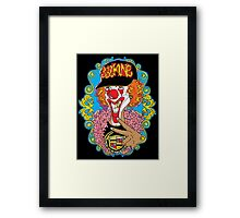 Psychedelic Clown Framed Print