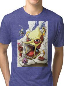 Attack on Lemongrab! Tri-blend T-Shirt
