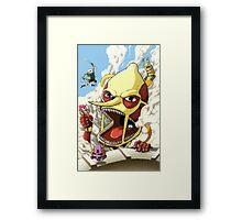 Attack on Lemongrab! Framed Print
