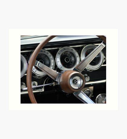 1966 Dodge Charger Dash Art Print