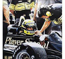 Ayrton Senna - Lotus Renault 98t Photographic Print