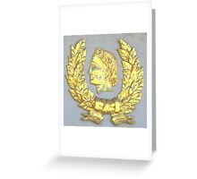 roman gold coat of arms Greeting Card