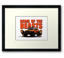 HOME OF THE BEASTS Framed Print