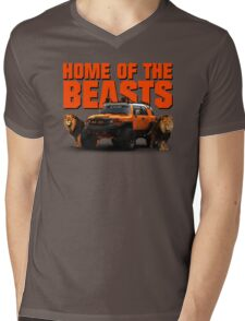 HOME OF THE BEASTS Mens V-Neck T-Shirt