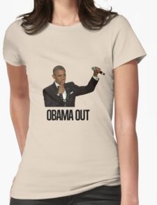 Obama Out Womens Fitted T-Shirt