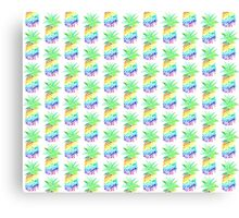 Rainbow Pineapples Canvas Print