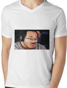 MarkiOH Mens V-Neck T-Shirt