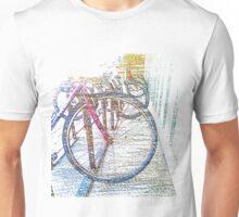 Bike Rack Pastels Unisex T-Shirt