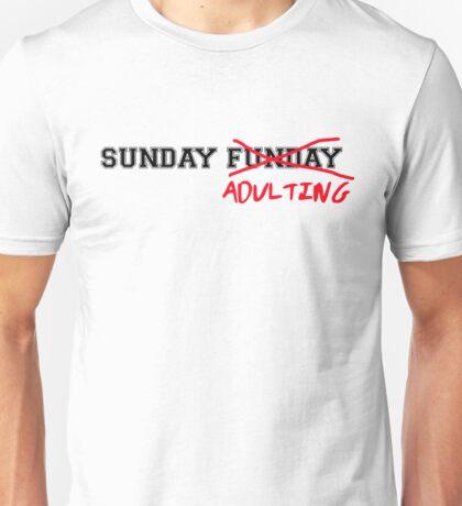 Sunday Adulting Unisex T-Shirt