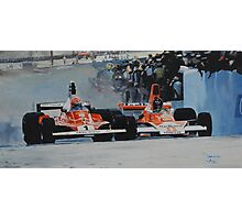 Niki Lauda vs James Hunt  Photographic Print