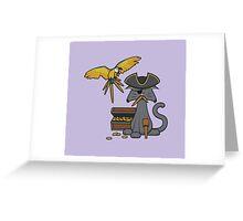 Pirate Cat Greeting Card